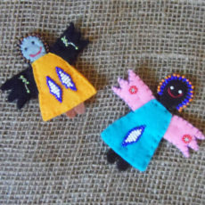 Felt hand sewn angel magnets