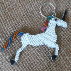 KYSu-flat-keyring-beaded-unicorn-wire-South-African-for-sale-bazaar-africa