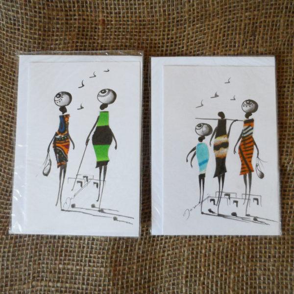 Crdm-handcrafted-cards-set-of-2-for-sale-Bazaar-Africa