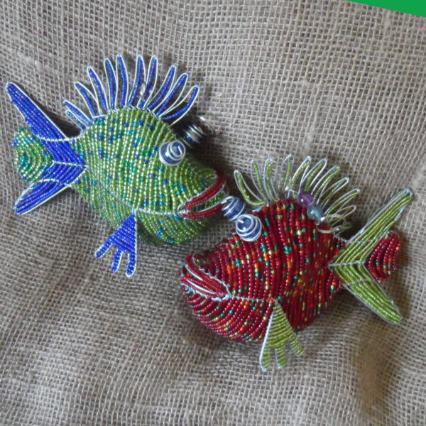 beaded-3D-hanging-fish-on-wire-frames-for-sale-bazaar-africa