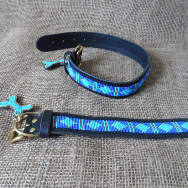 Maasai-1 ½-beaded-dog-collars-blue-triangles-on-leather-handmade-in-Kenya.jpg