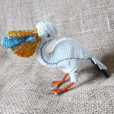 BASpcf-Beaded-3D-pelican-with-fish-on-wire-frame-for-sale-bazaar-africa