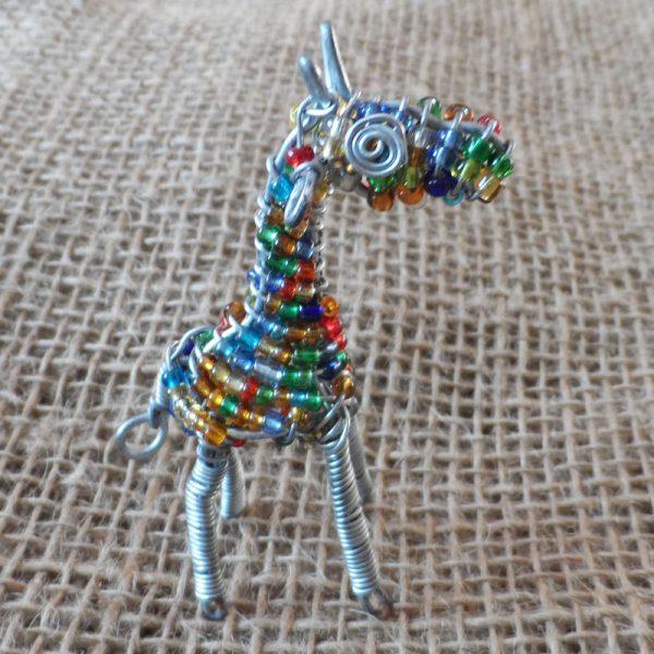 BAEAg-Beaded-3D-animals-giraffe-small-on-wire-frames-for-sale-bazaar-africa