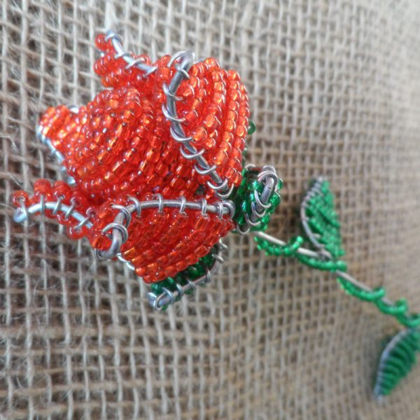 Rose-South-African-beaded-rose-flower-for-sale-bazaar-africa