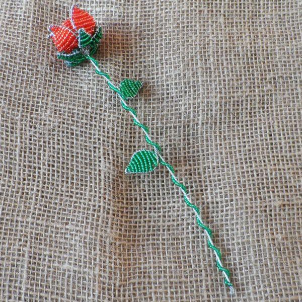South-African-beaded-rose-flower-for-sale-bazaar-africa