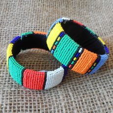 Wide-striped-bangles-bright-beaded-Zulu-geometric-for-sale-bazaar-africa