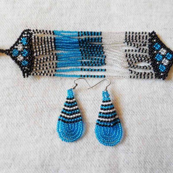 Zulu2-dangling-seed-bead-earrings-bracelet-for-sale-bazaar-africa