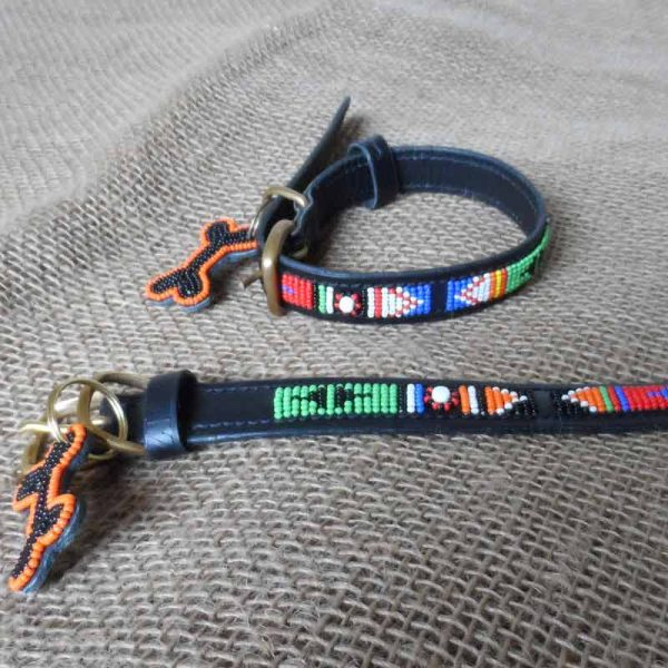 Maasai-¾-beaded-dog-collars-bright-geo-on-leather-handmade-in-Kenya