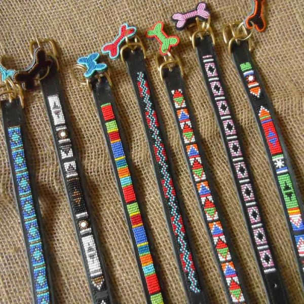 Maasai-small-beaded-dog-collars-7-on-leather-handmade-in-Kenya